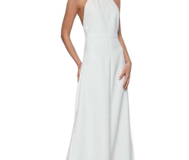 Fabia Ivory Halterneck Maxi Dress