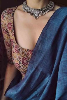 Blue-silk-saree