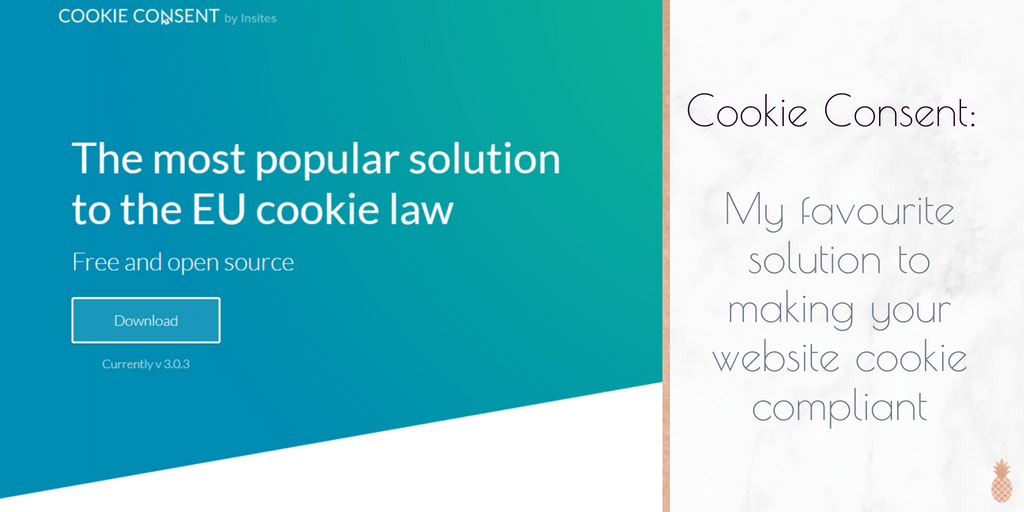 Plugin Recommendation: Cookie Consent – My favourite cookie plugin for GDPR