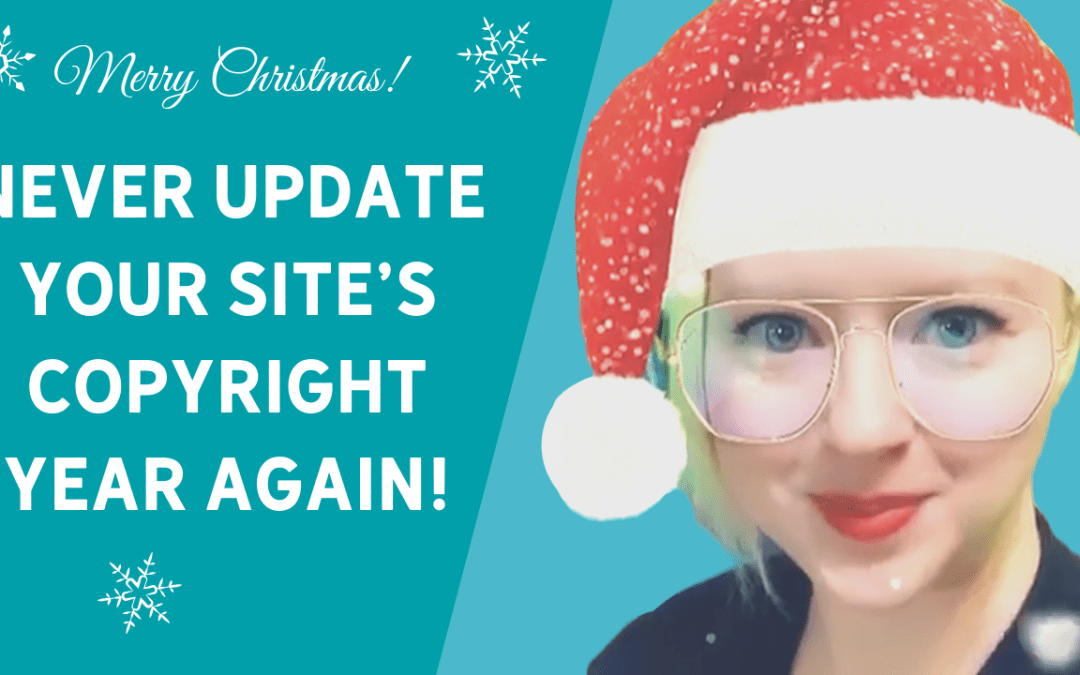Never Update Your Site's Copyright Year Again