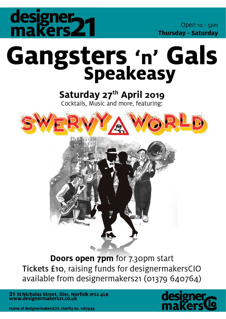 Gangsters 'n' Gals leaflet graphic