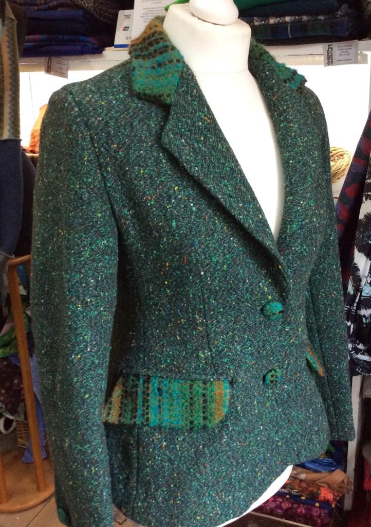 Upcycled jacket sample