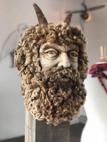 needle felted centaur head