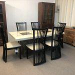 Brisbane Marble Table 220cm 6x Black Curveback Chairs Designer Marble