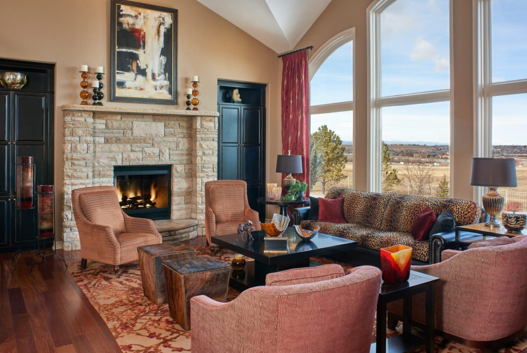 warm family room redesign