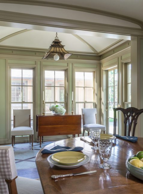 Psychological Properties Of Colors, traditional green dining room