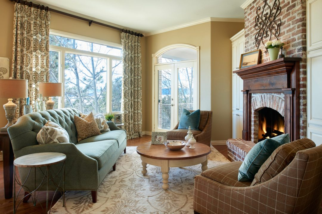 pa, transitional family room, castle pines