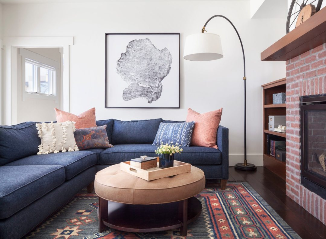 Jennifer Medoff, Dragonfly Designs, Longmont, CO , brick fireplace, family, living