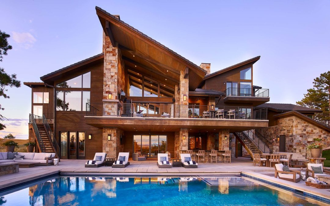 Custom Home in Colorado Golf Club with a Dynamic View Straight Down to Pike's Peak