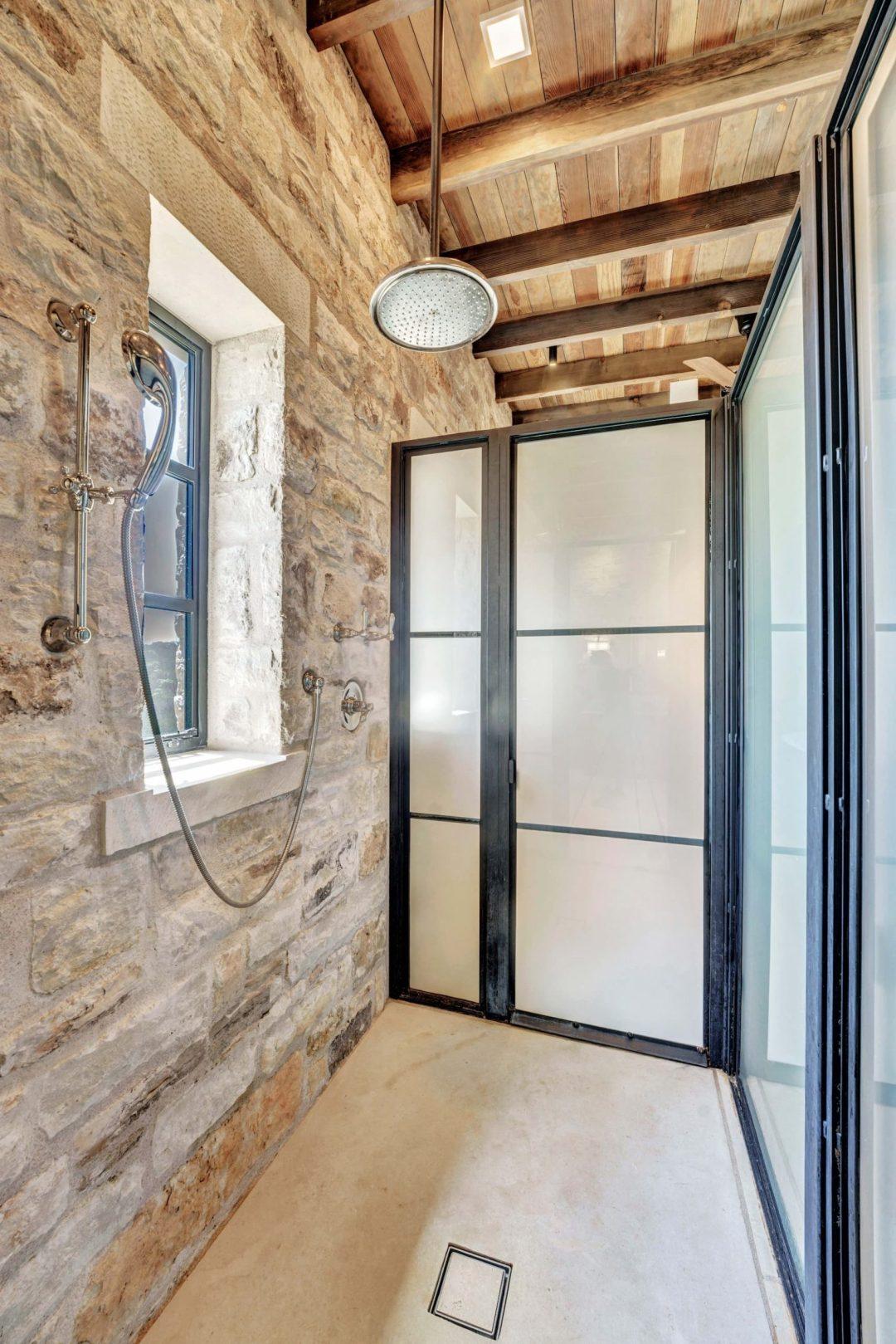 Doss Texas Custom Home master bath shower lenore 2