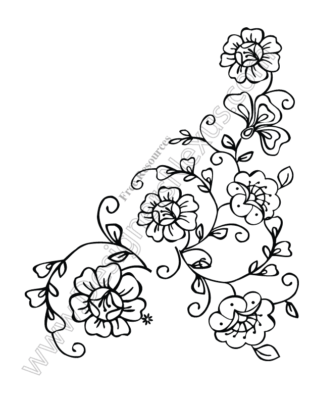 V13 Free Flower Vectors Floral Corner Border Clip Art