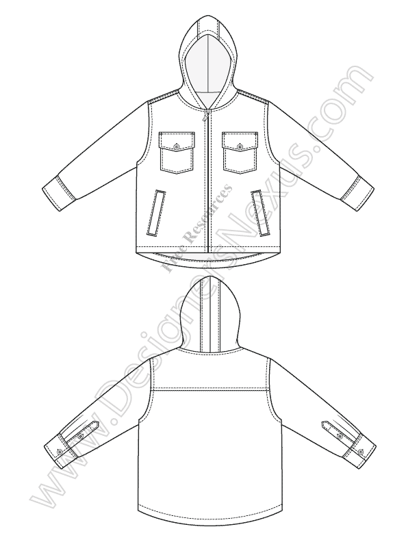 Free Illustrator Fashion Flat Sketches Childrens Apparel