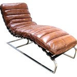 Bilbao Daybed Vintage Tan Distressed Leather Chaise Lounge Vintage Chairs By Designer Sofas For You