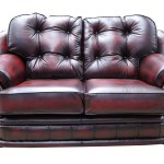Chesterfield Knightsbridge 2 Seater Settee Sofa Antique Oxblood Leather