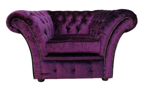 Chesterfield Balmoral Armchair Boutique Purple Velvet
