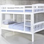 Bellance Solid Wood White Bunk Bed And Splits Into Two Beds Designer Sofas4u