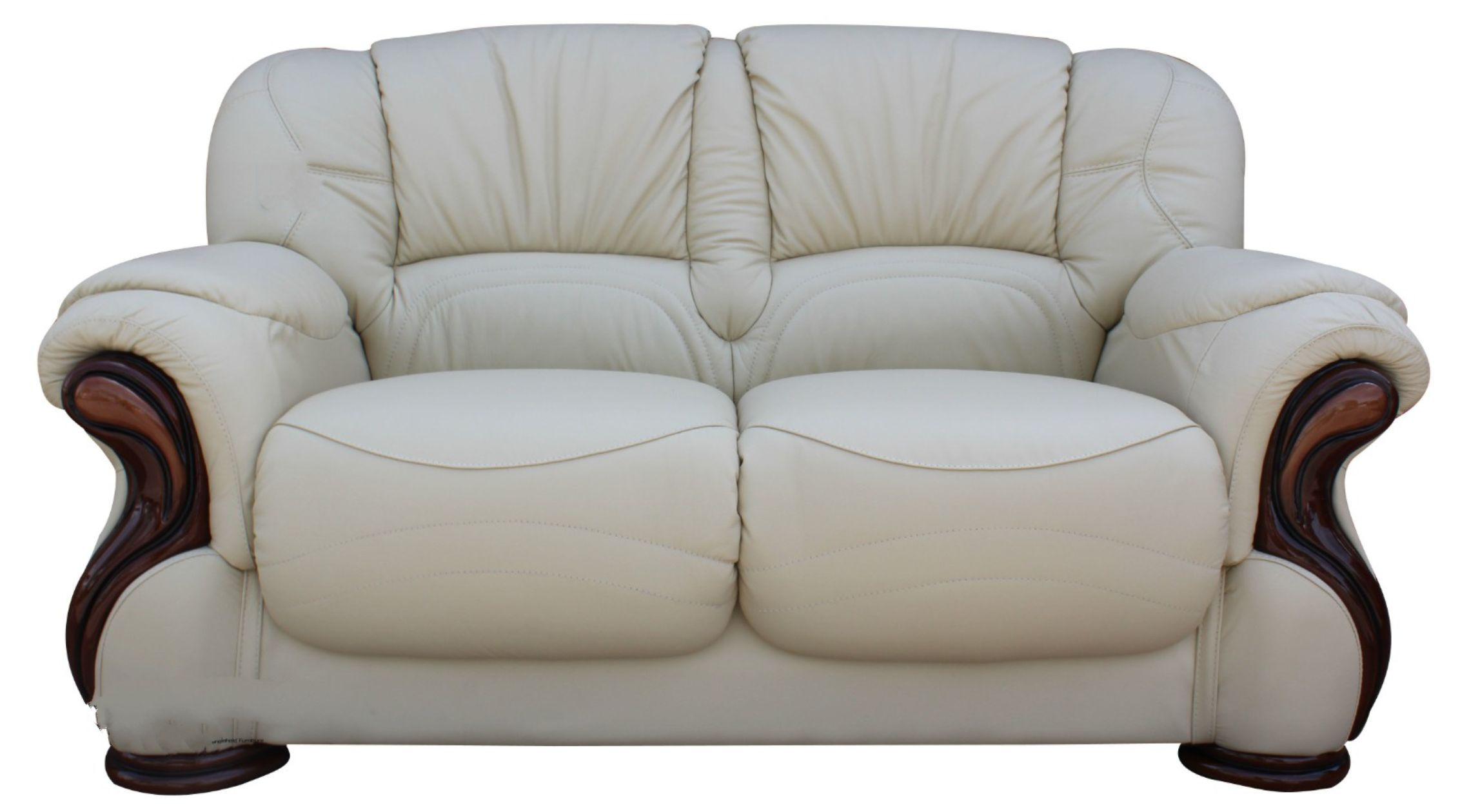 There are two options for making your own leather furnitu. Susanna Italian Leather 2 Seater Sofa Settee Cream Offer ...