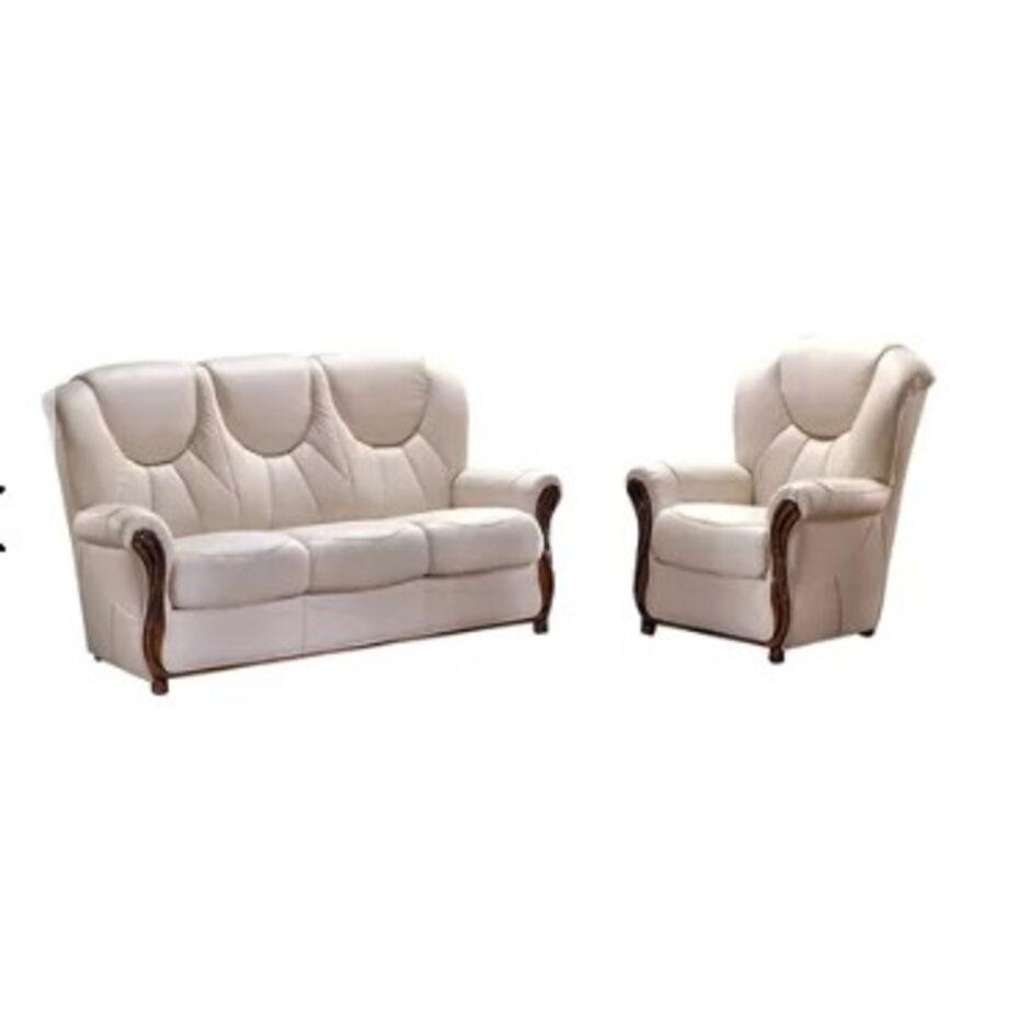 louisiana 2 piece sofa set genuine italian real leather