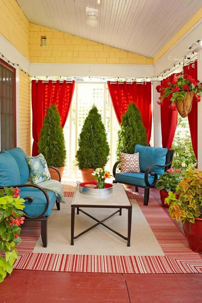 Outdoor Decor: 12 Amazing Curtain Ideas for Porch and Patios on Best Backyard Patio Designs  id=85976