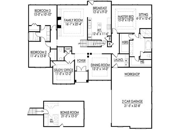 Leland A floor plan