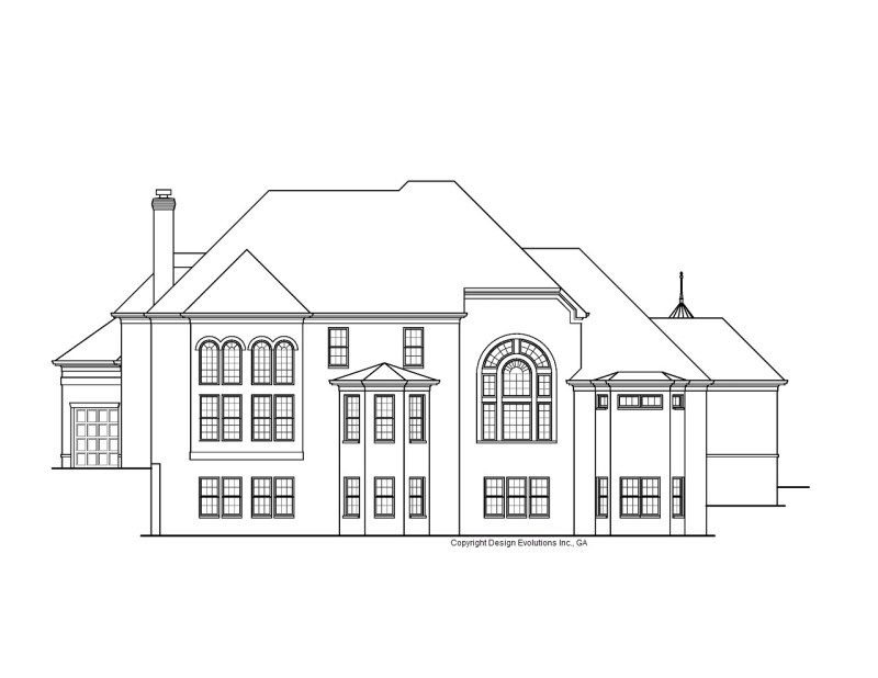 Fortress house plan rear elevation