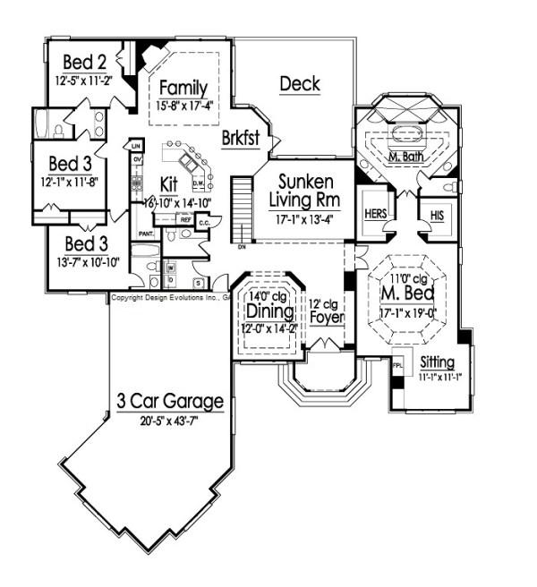Stanford II floor plan
