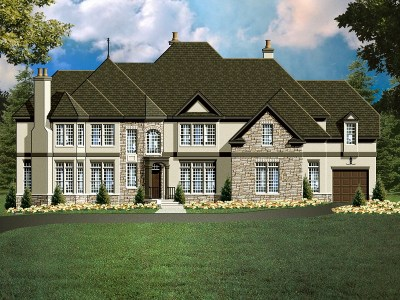 yorkshire 2 house plan rendering - 5500 Square Foot House Plans