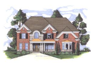 Cashton house plan rendering