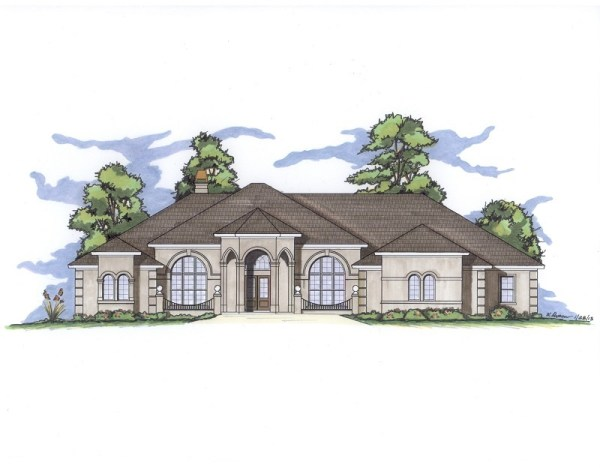 Henson house plan front elevation