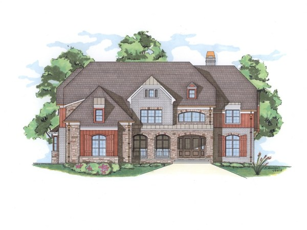 Rossi house plan front elevation