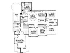 Rossi second floor plan