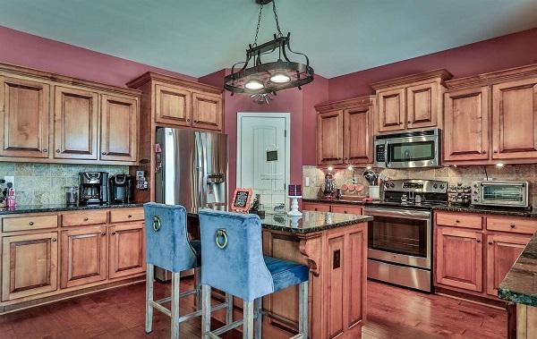 Montana house plan island kitchen