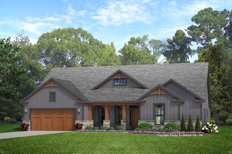 Walton house plan rendering