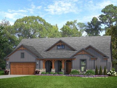 Walton house plan rendering