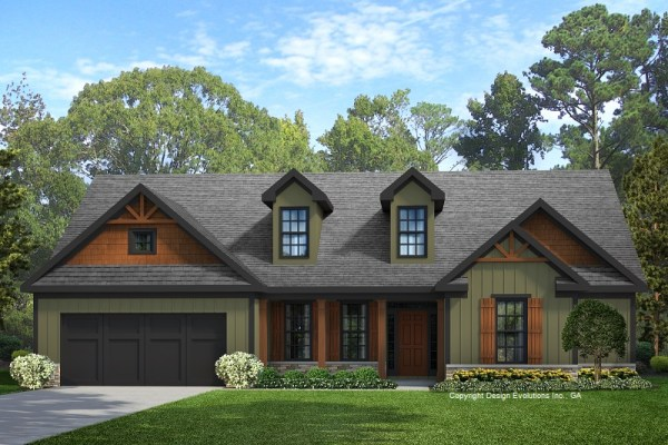 Braylon house plans front elevation rendering