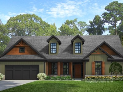 Braylon house plans front elevation rendering