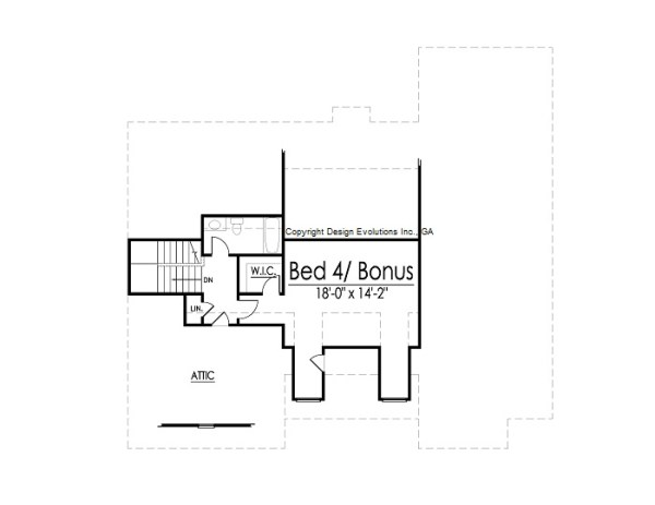 Braylon house plan second floor