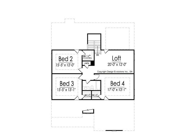 Bellwood second floor plan