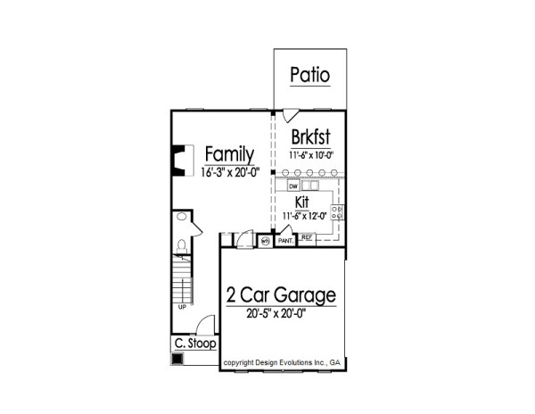 Chesley first floor plan