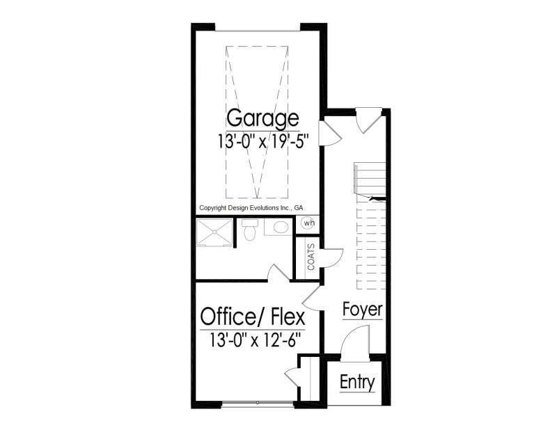shed roof house floor plan