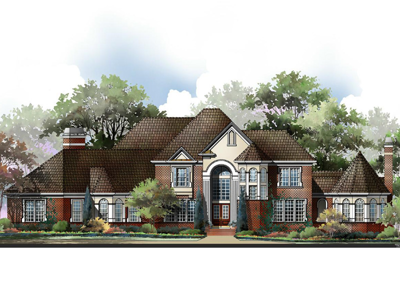 Canton house plan rendering