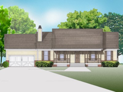 Carolyn house plan rendering
