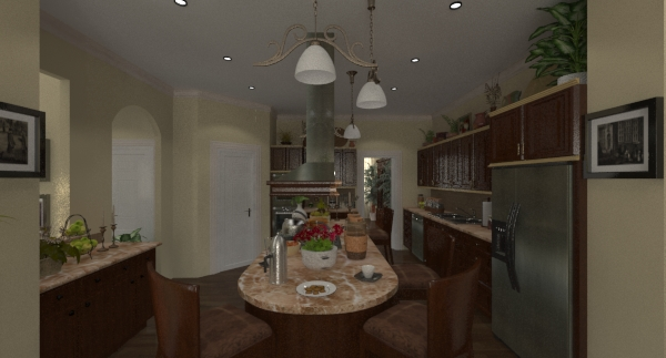 Lexington kitchen rendering