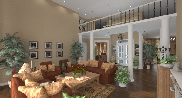 Renica living room and foyer