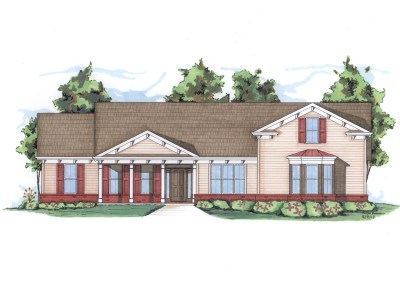 Downing house plan rendering