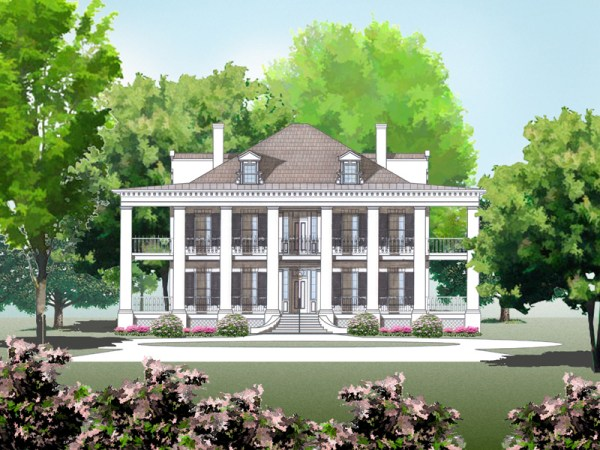 Dunleith house plan rendering