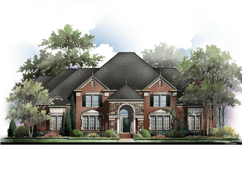 Lexington House Plan - Gothic Revival Plan   4,096 sq ft   4 bed ...