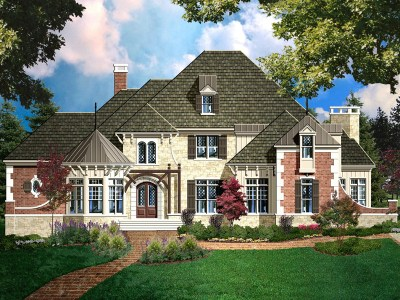 Ponderosa house plan rendering