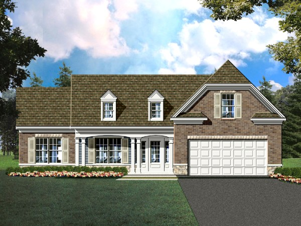Sante Fe house plan rendering