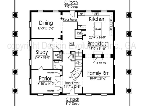Dunleith second floor